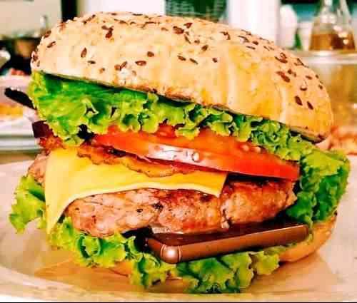 hamburguesa, la mantequilla, el Sony Xperia Z3