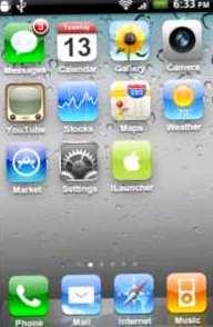 descarga iLauncher, para Android, la interfaz iphone, ios