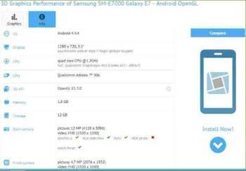 Samsung Galaxy E7 SM-E7000, revisión