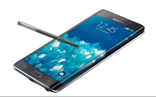 Samsung Galaxy Note Edge, foto, doblada