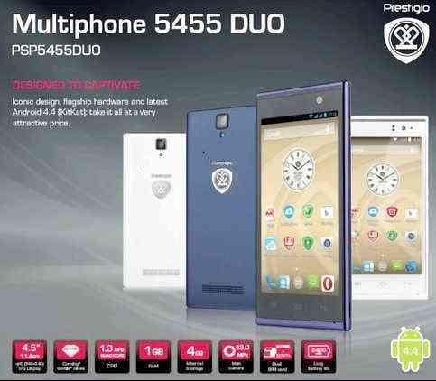 Prestigio Multiphone 5455 DUO, derecha, root