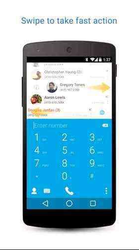 Truedialer, agenda, Android